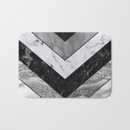 Shimmering mirage - grey marble chevron Bath Mat