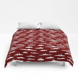Battleship // Maroon Comforters