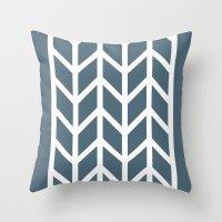 herringbone Throw Pillows featuring Herringbone by Sara Nolin