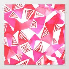 Geo Triangle Pink Canvas Print