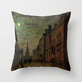 Park Row, Leeds, England by John Atkinson Grimshaw Throw Pillow
