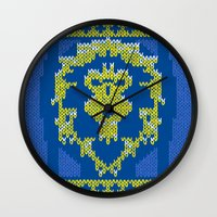 warcraft Wall Clocks featuring Ugly Sweater 1 by SlothgirlArt