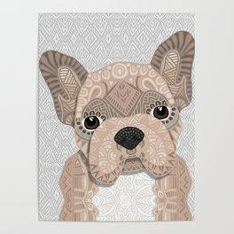 Beige Frenchie Puppy 001 Poster