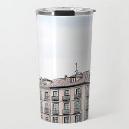 Major Square of Segovia Drawing in Spain Travel Mug