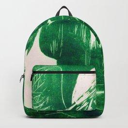 Crow Girl  - Bottle Green Backpack