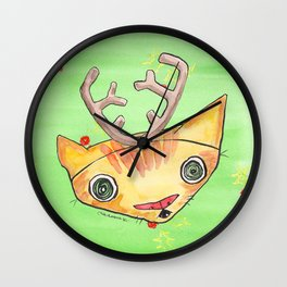 """""""Oro?"""" Reindeer Wall Clock"""