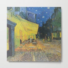 Vincent can Gogh's Cafe Terrace at Night Metal Print
