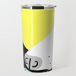 Dog Sniffing Kite by the Light of the Moon Travel Mug
