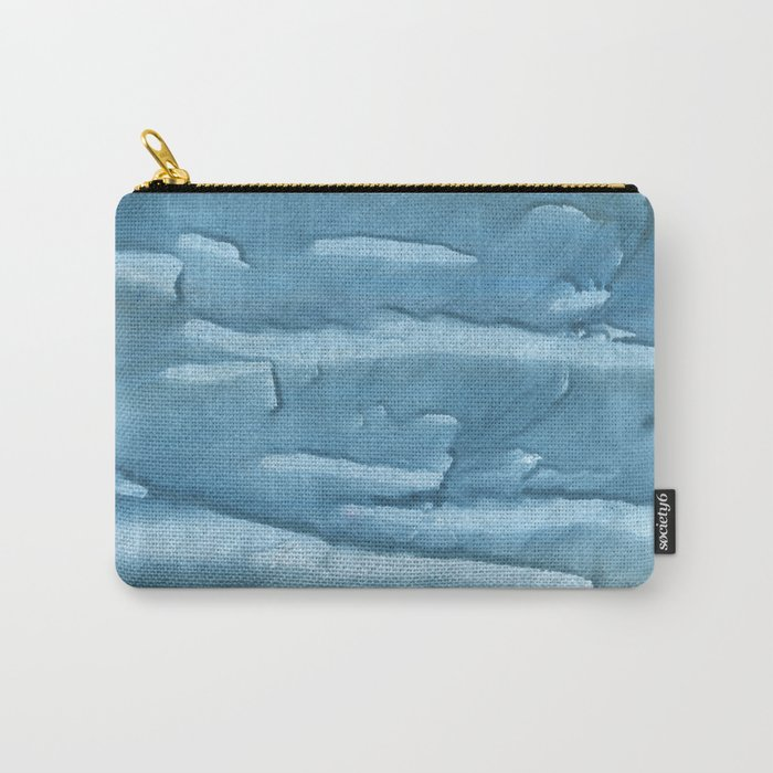 Cadet blue colored watercolor pattern Carry-All Pouch