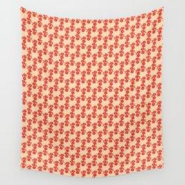 Aztek floral orange 1 Wall Tapestry