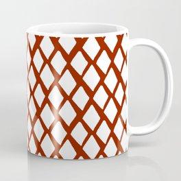 Rhombus White And Red Coffee Mug