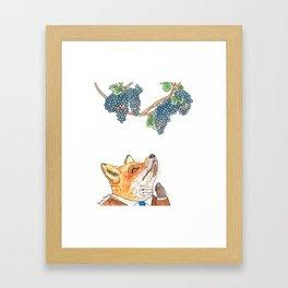 Sour Grapes Framed Art Print