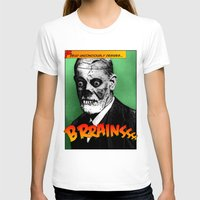 freud T-shirts featuring Zombie Freud by Ms Moirai