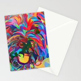 Abstract Doggo Stationery Cards