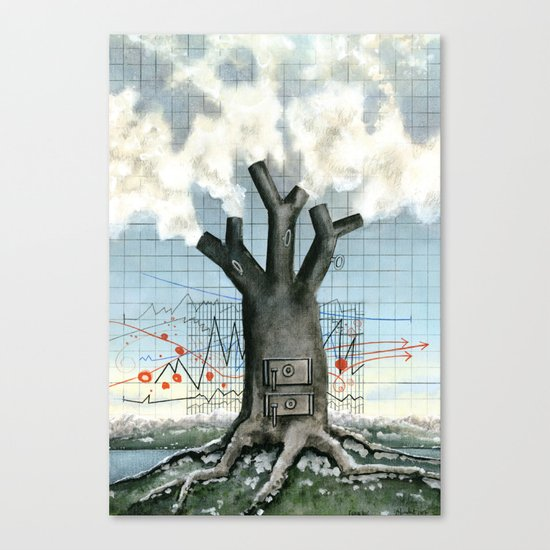 Wood fire Canvas Print