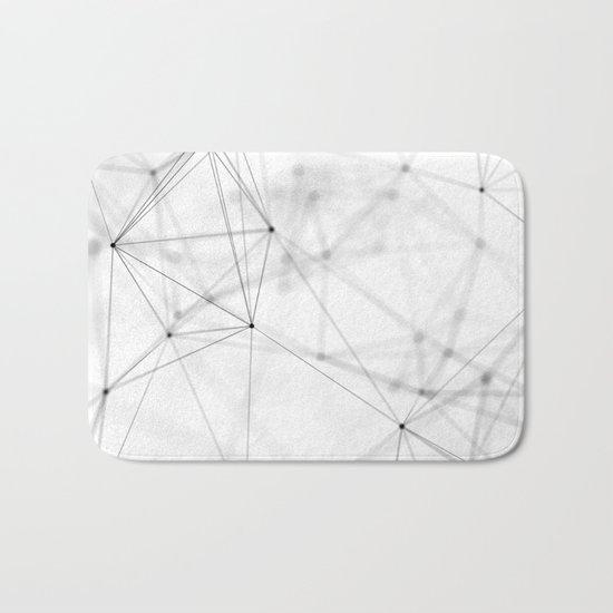 Geometry minimal pattern Bath Mat
