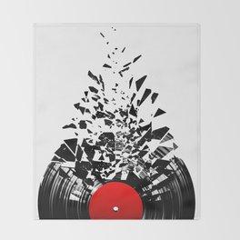 Vinyl shatter Throw Blanket