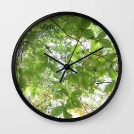 Green Leaves Elm Wall Clock