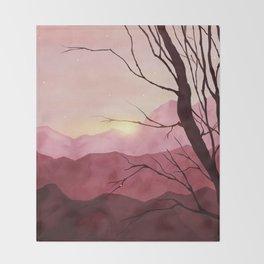 Sunset & landscape Throw Blanket