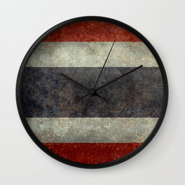 The National flag of Thailand, (formerly known as Siam) To scale Vintage version Wall Clock