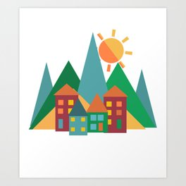 Summer in the Alps Art Print