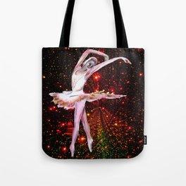 Cosmic Dancer , female figure dance art and stars Tote Bag
