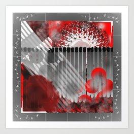 Pictures of Matchstick Men Art Print