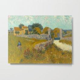 Vincent van Gogh - Farmhouse in Provence Metal Print