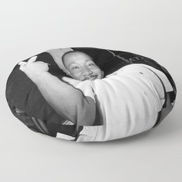 Martin Luther King Peace Symbol Floor Pillow