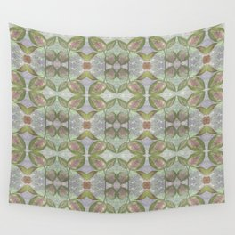 Coleus Quiet Gray Pattern Wall Tapestry