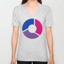 Bisexual Pride Flag Circle Unisex V-Neck