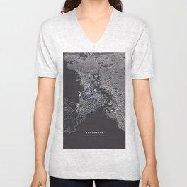 Vancouver city map Unisex V-Neck