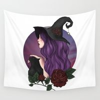 witch Wall Tapestries featuring Witch by Clementine Petrova