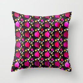 Circles - Pink Throw Pillow