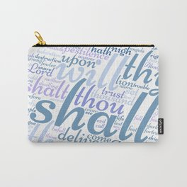 Christian Psalm 91 Word Art Carry-All Pouch