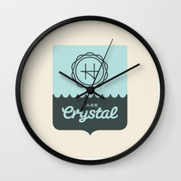 Crystal Lake – Badge Wall Clock