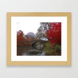 NYC - Gapstow Bridge, Central Park Framed Art Print