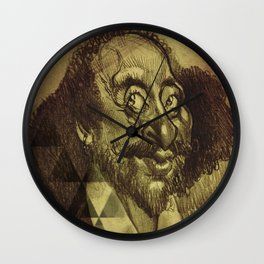 William Shakespeare-wise and fool Wall Clock