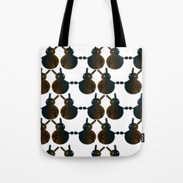 Robot Ball Bunny Tote Bag