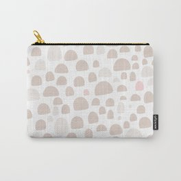 Pastel pink brown pastel color abstract iglo pattern Carry-All Pouch