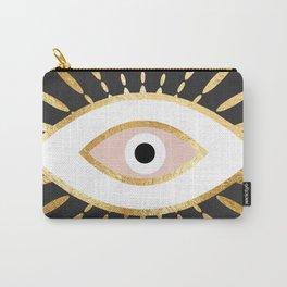 gold foil evil eye in blush Tasche