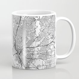 Dallas White Map Coffee Mug