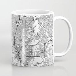 Dallas White Map Coffee Mug