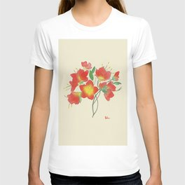 Red Loose Flower T-shirt