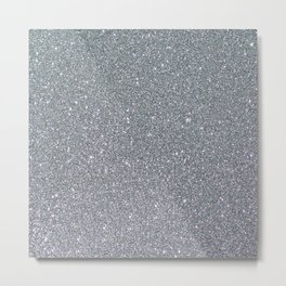 Two Toned Glitter Metal Print