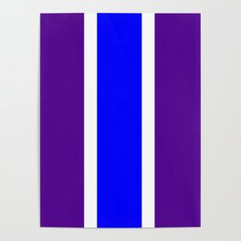 TEAM COLORS 10 ....BLUE/PURPLE Poster
