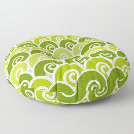 Green Beach Waves Floor Pillow