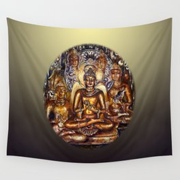 Gold Buddha Wall Tapestry
