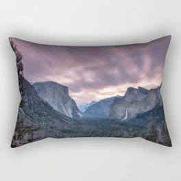 Sunrise over Yosemite from Tunnel View. Rectangular Pillow