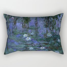 Blue Water Lilies Monet 1916- 1919 Rectangular Pillow